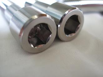 Titanium BST sprocket drive pin heads