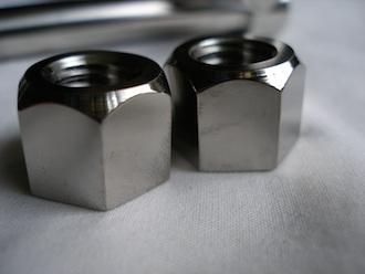 Titanium outboard motor bolt nuts