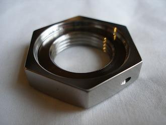 Yamaha R1 titanium gearbox sprocket nut recess