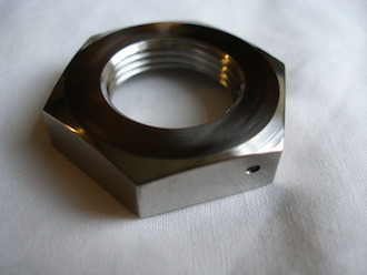 Yamaha R1 titanium gearbox sprocket nut