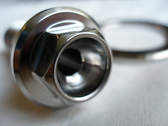 Honda VFR800 titanium s/arm pinch bolt head