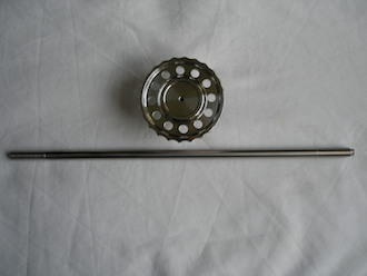 BSA RGS steering damper knob and titanium rod