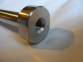 Titanium 7/16 UNF bolt with 5/16 UNF tapping