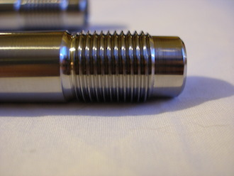 Titanium Triumph T140 swinging arm spindle thread 5/8 UNF