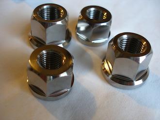 Titanium 1/2 and 7/16 UNF nuts