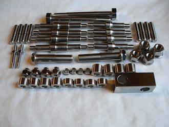 Titanium car and boat parts