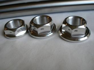 Yamaha TZ 7075 alloy axle nuts