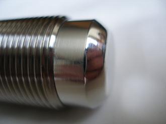 Suzuki GSXR1000 K4 titanium rear wheel axle thread end