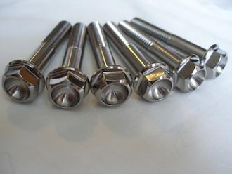 Honda SP2 titanium bottom yoke pinch bolt heads