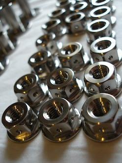 Suzuki GSXR 1000 K6 titanium drilled nuts