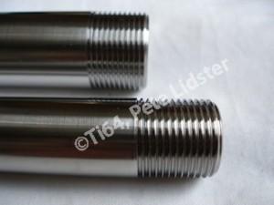 Aprilia RS250 titanium wheel spindle threads