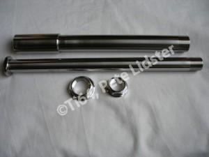 Aprilia RS250 titanium wheels axles and 7075 alloy nuts