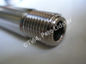 Cheney MX titanium front wheel spindle thread