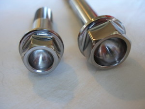 Yamaha R1 titanium bolt heads