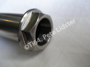 Yamaha R1 titanium QD rear wheel spindle head