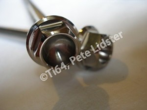Yamaha R1 titanium engine mounting bolt head