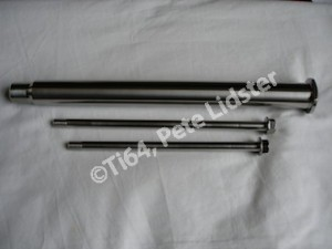 Yamaha R1 titanium rear wheel spindle and engine mounting bolts