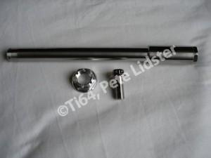 Yamaha TZ titanium front wheel spindle and pinch bolt