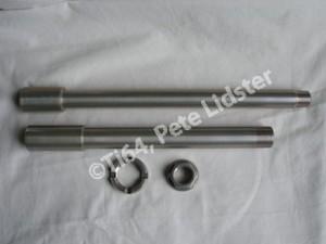 Suzuki GSXR1000K7 7075 alloy axles Surtek 650 coated