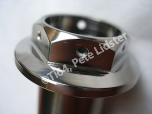 Honda Fireblade titanium rear wheel axle lockwire holes