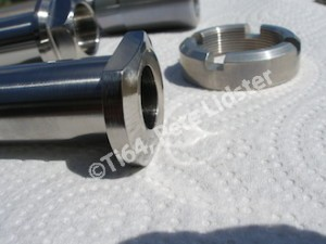Kawasaki ZX10R titanium rear wheel spindle head