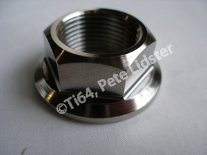 Honda SP2 titanium rear wheel axle nut