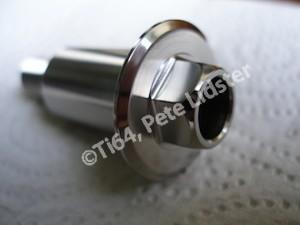 Titanium sidestand bolt head