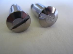 Honda titanium gear and brake lever pivot bolt heads