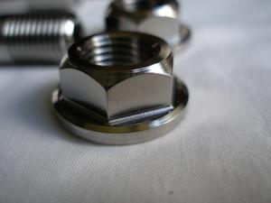 Montessa titanium spindle nut