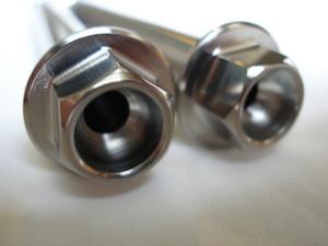 Suzuki GSXR titanium suspension link bolts heads