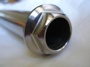 Kawasaki ZXR titanium swinging arm axle head