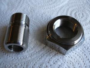 Suzuki GSXR engine titanium gearbox sprocket nut and oil line spiggot