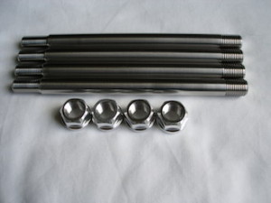 Norton titanium rear hub studs with 7075 alloy nuts