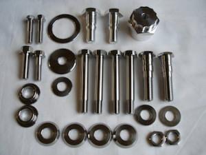 Honda 250/6 titanium and 7075 alloy parts