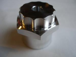 Honda 250/6 7075 alloy steering stem top nut