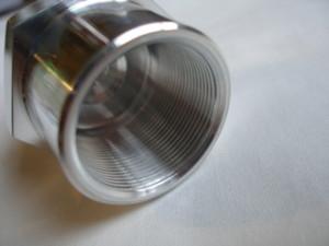 Honda 250/6 7075 alloy steering stem top nut thread, 26x1