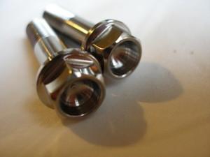 Honda 250/6 titanium flanged hex head bolts