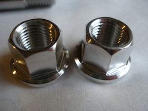 KTM RC8R titanium suspension stud nuts