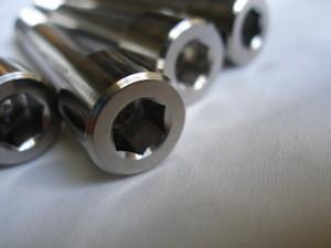 Montessa titanium suspension mounting bolt heads
