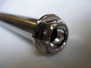 Harley Davidson titanium swinging arm spindle head