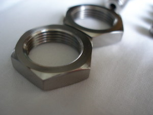 Hillclimb Mini titanium wiper drive nut