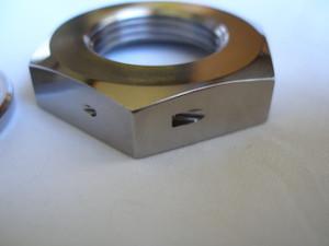 Yamaha R1 titanium sprocket nut lockwire hole