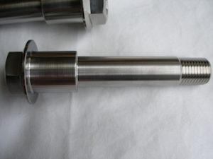 Honda RC30 titanium unthreaded swinging arm pivot