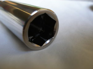 Titanium Norton front wheel spindle head