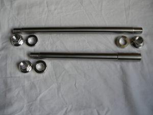 Titanium Norton wheel spindles