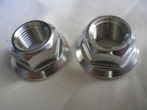 Yamaha R1 titanium engine mounting bolt nuts