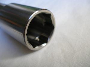 Yamaha R1 titanium front wheel axle head socket