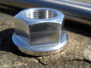 Yamaha TZ 350 7075 alloy axle nut