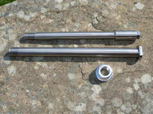 Yamaha TZ 350 titanium wheel spindles