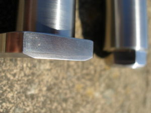 Yamaha TZ 350 titanium rear axle steel end plug